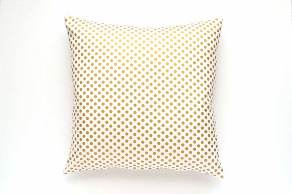 6e39eb5ed6a Gold Polka Dot Pillow Cover - 20