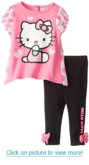1ac6c7a9b Hello Kitty Baby Baby-Girls Infant 2 Piece Legging Set with Netting ...