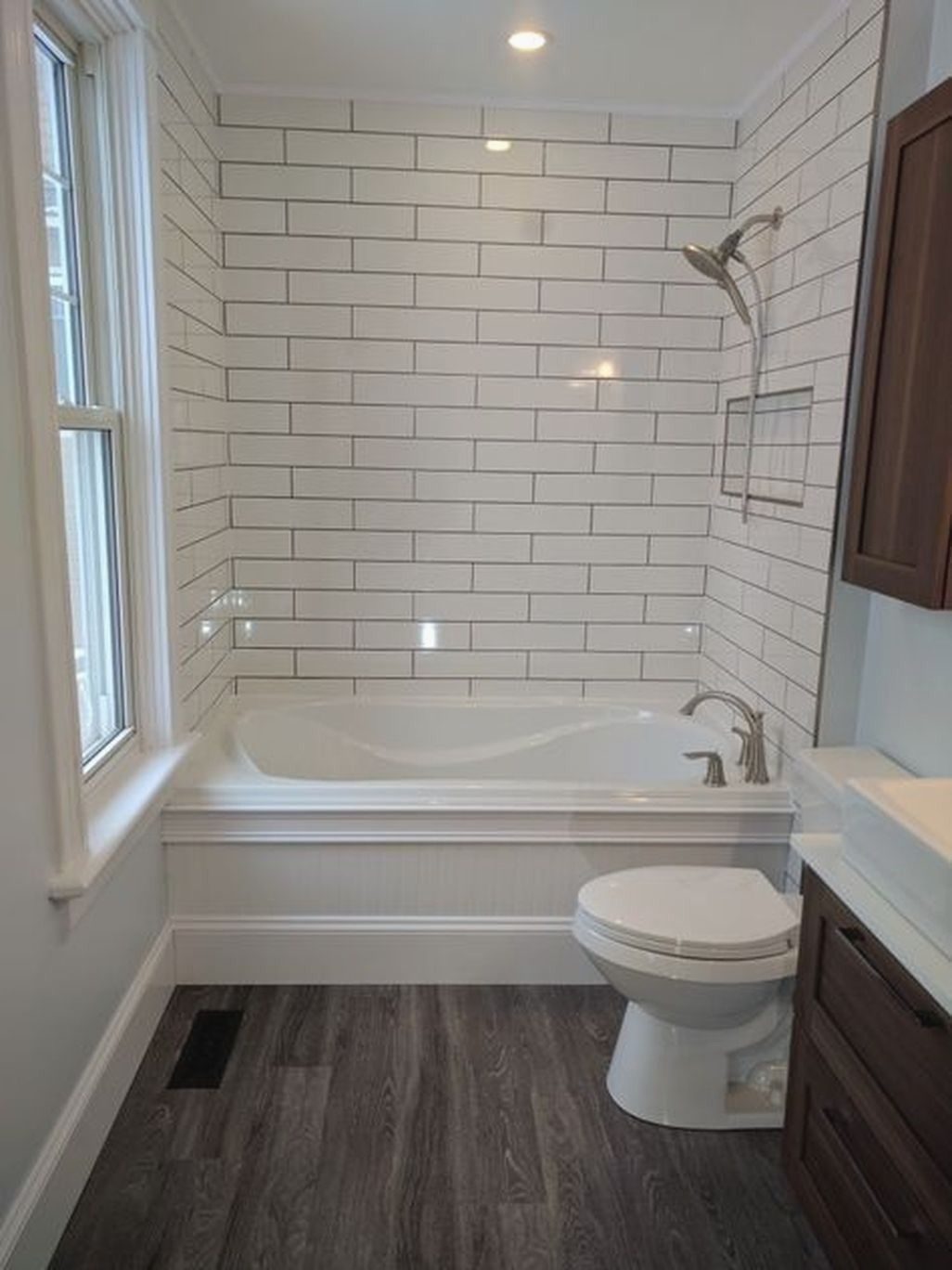 Take Advantage Of Your Bathroom Area By Working Up A Compact Yet Extremely Deliberate Vanit Minimalist Small Bathrooms Small Bathroom Remodel Bathrooms Remodel