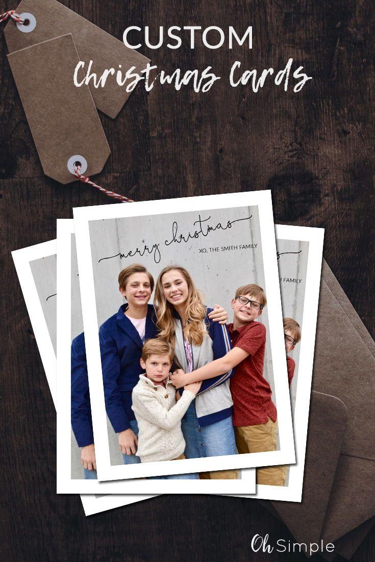 Custom Christmas Cards.Modern Christmas Photo Card Family Christmas Card Custom