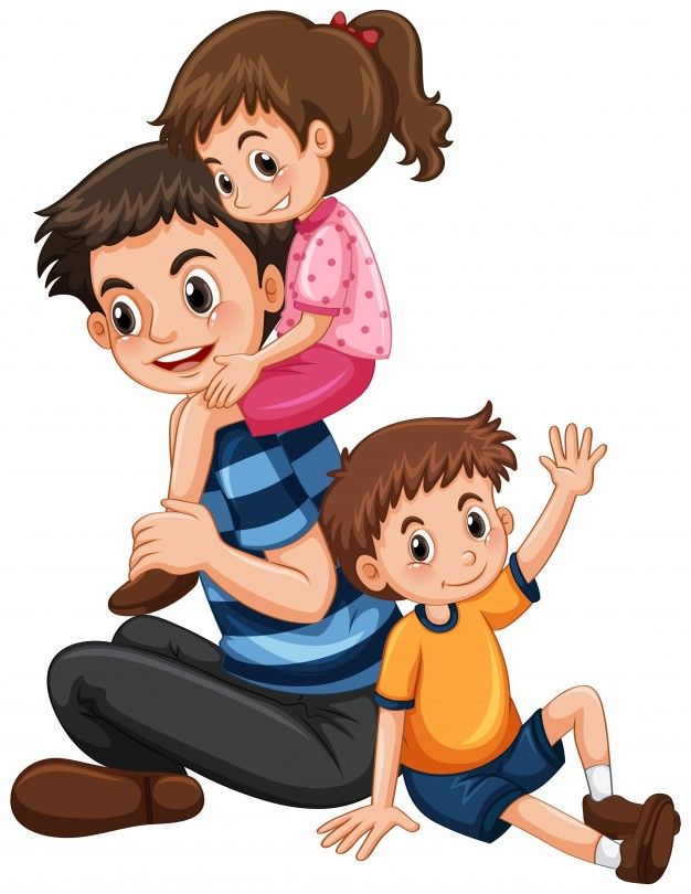 padre con hija e hijo vector gratis manualidades pap pinterest rh pinterest ch  free precious moments angel clipart