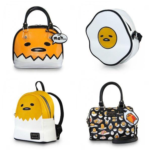 These Loungefly Gudetama Bags Look Lazy And Tasty Bags Gudetama