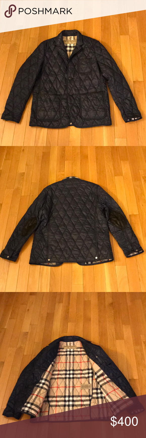 Burberry Gillington Navy Blue Quilted Jacket Xl Quilted Jacket Quilted Jacket Men Burberry Jacket