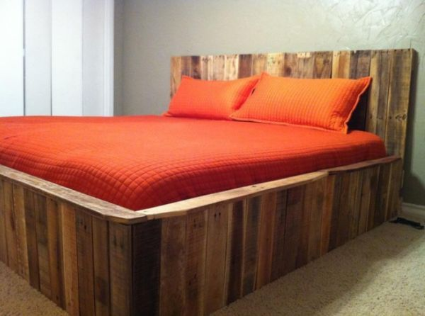 More Creative Pallet Recycling Ideas Pallet Furniture Plans Pallet Bed Frame Diy Pallet Bed
