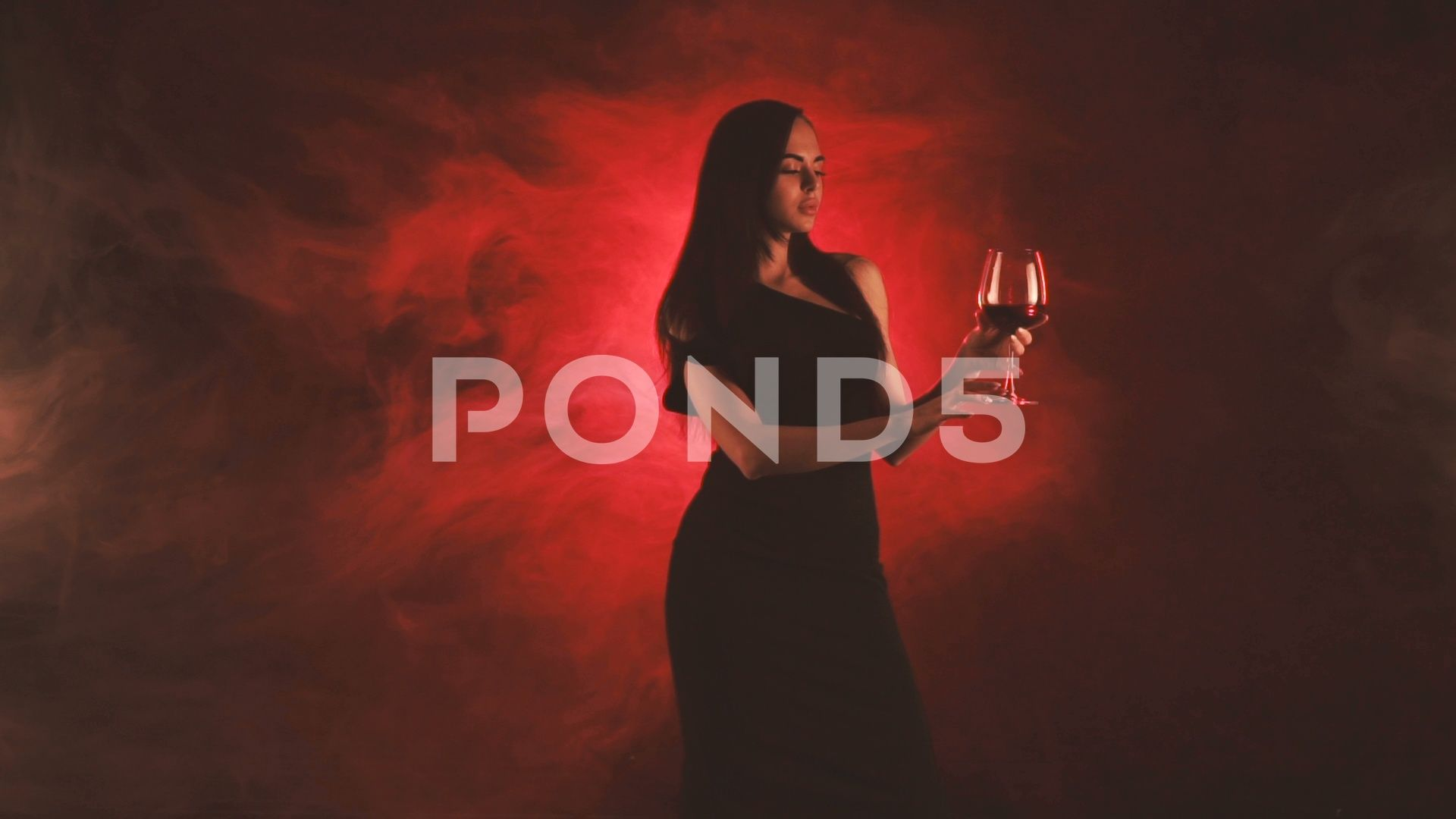 Woman With A Glass Of Red Wine In Red Smoke Stock Footage Ad Red Glass Woman Wine Red Smoke Red Wine Woman Wine