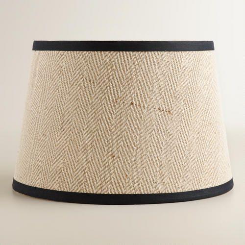 World Market Lamp Shades Cream Herringbone Accent Lamp Shade  Herringbone Lamp Bases And