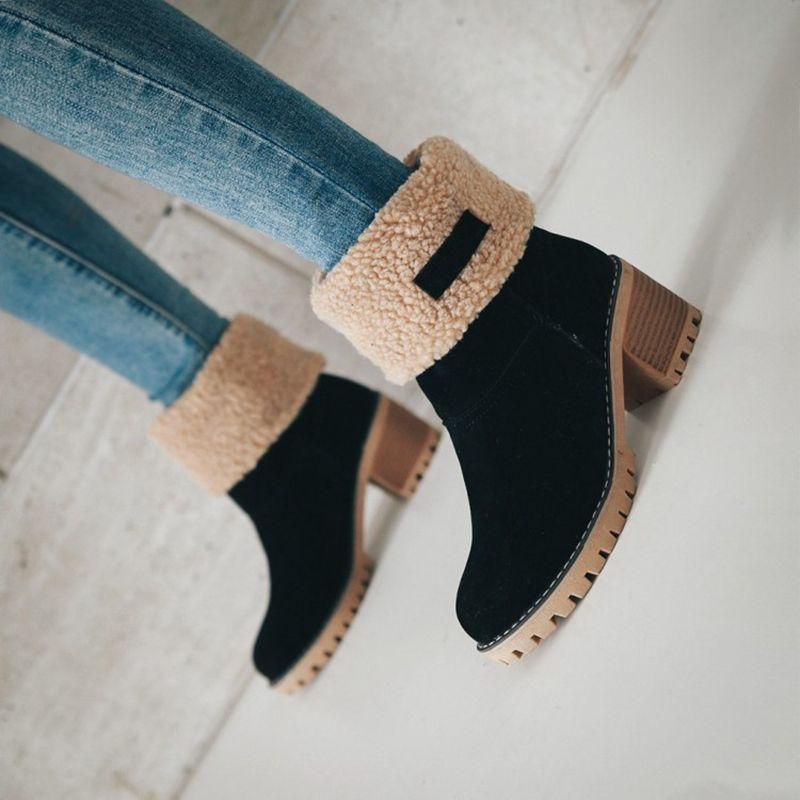 Winter Fur Warm Snow Boots
