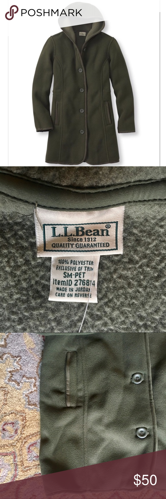 NWT LL Bean Kingfield Fleece Hooded Coat, PS NWT | Comfort style ...