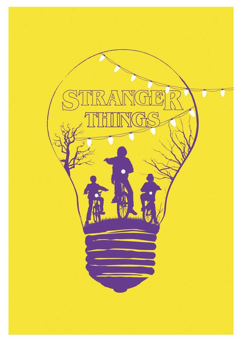 Alternative stranger things yellow minimalist poster tv serie ...