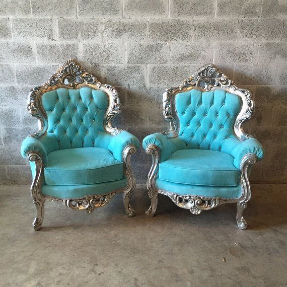 baroque settee bergere furniture italian antique sofa refinished silver leaf reupholster baby blue suede tufted french louis xvi rococo
