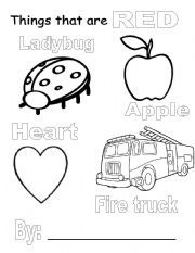Things That Are Red Coloring Pages Google Search Preschool