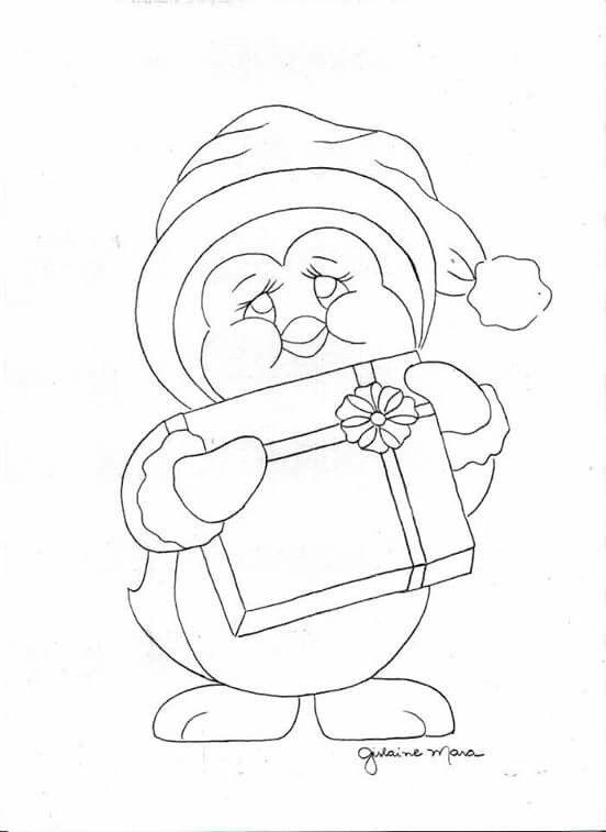 Pinguim Tp Pintura De Natal Pinguim Desenho Desenho De Natal