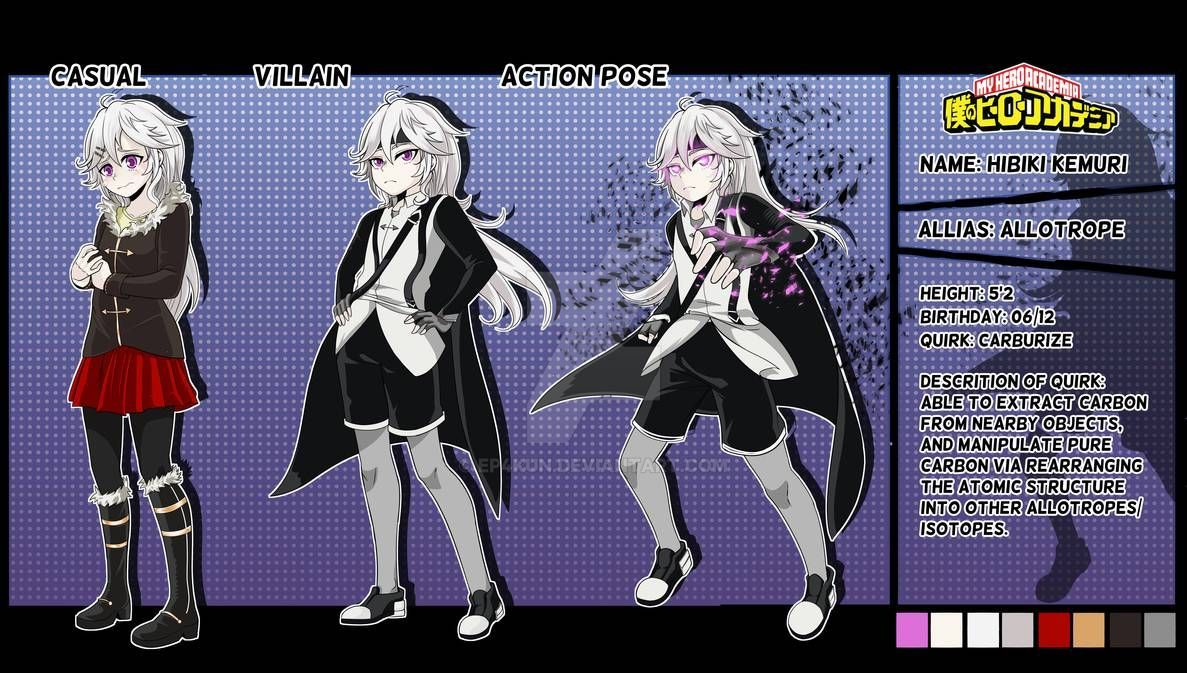 Bnha Oc Allotrope Reference Sheet Commission By Ep4kun On Deviantart In 2020 Character Design Anime Eyes My Hero Academia Memes