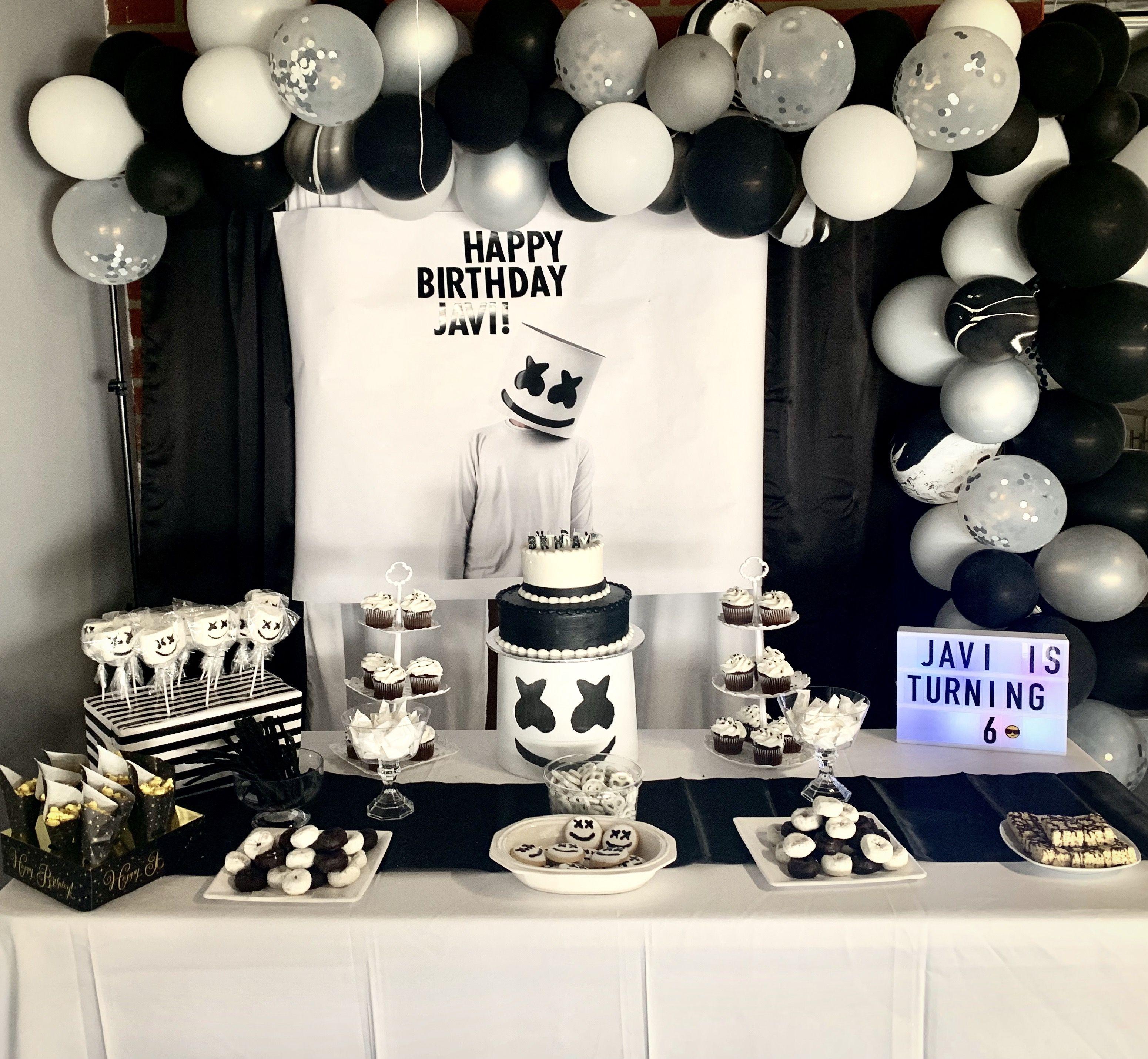 Marshmello Party Marshmello Party Video Game Birthday Party Decorations Marshmello Birthday