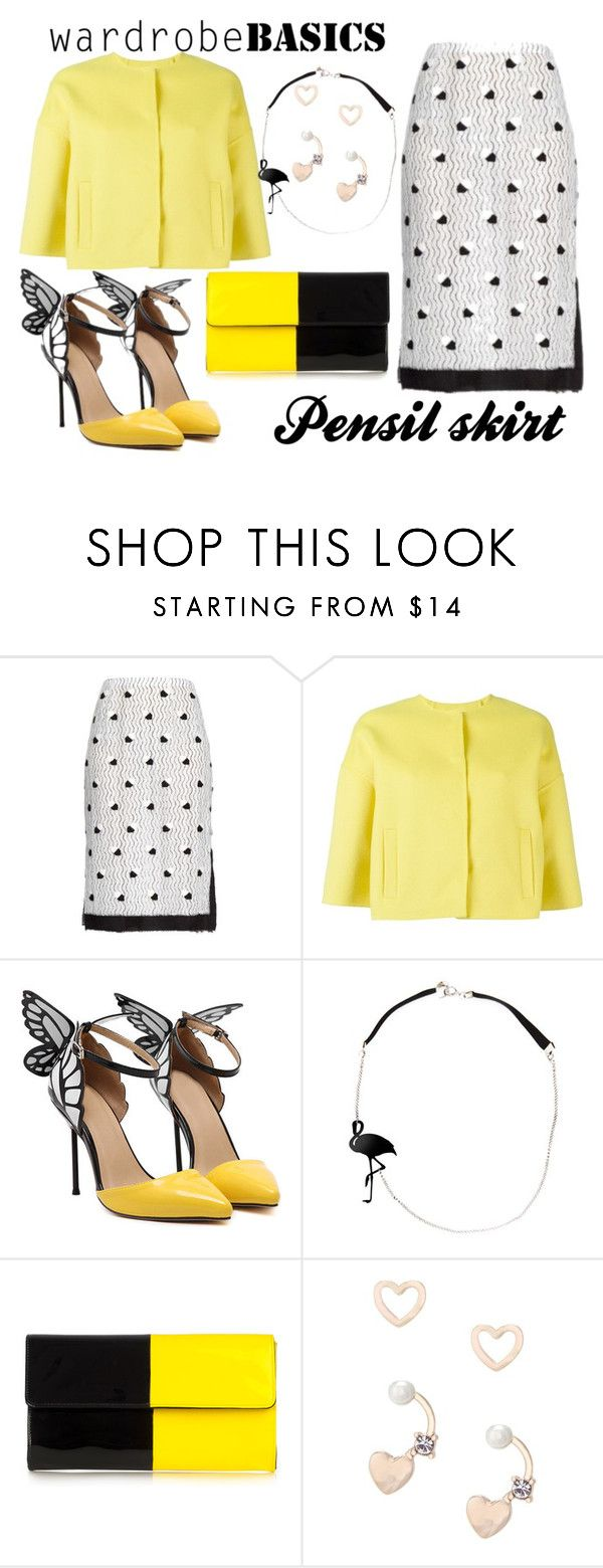 """Wardrobe basics: Pensil skirt"" by des4etoo ❤ liked on Polyvore featuring Marco de Vincenzo, P.A.R.O.S.H. and Lipsy"
