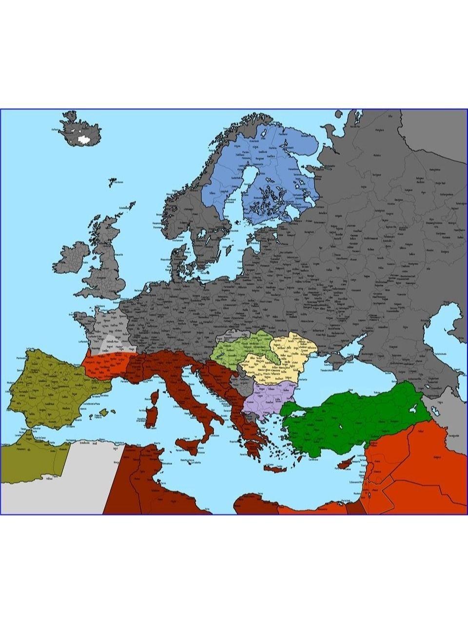 Nazi Map Of Europe.Maps On The Web Europe If Nazi Germany Had Won The War Fantasy