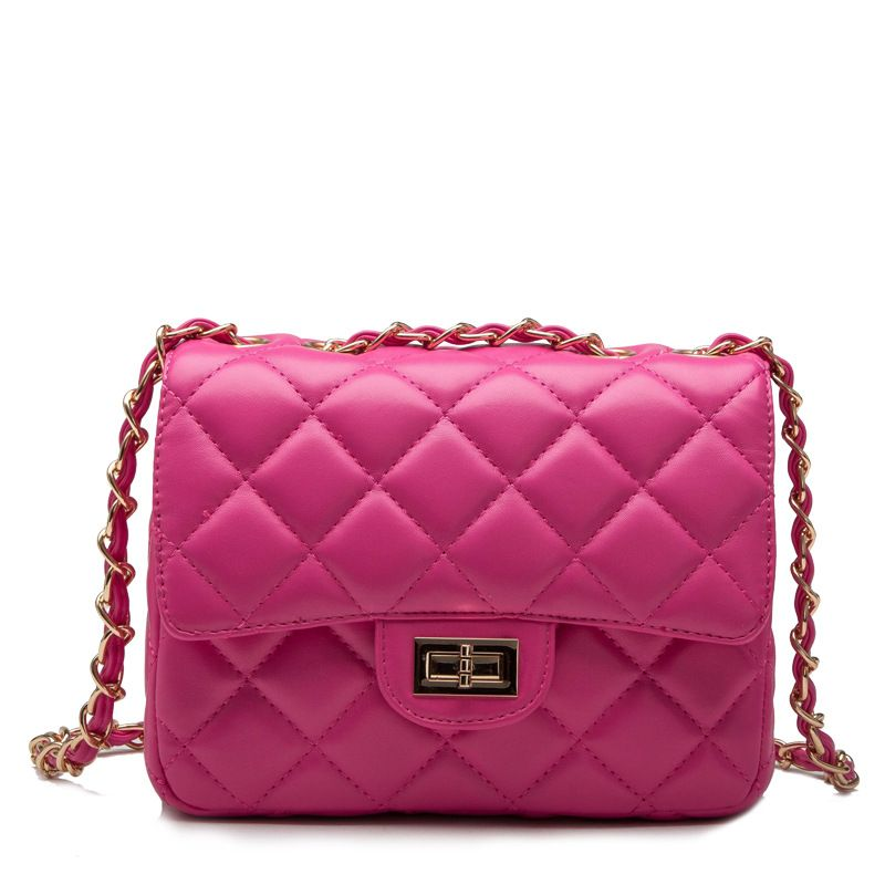 Find More Shoulder Bags Information about New Fashion women handbags leather diamond lattice chain bag candy color Mini lady shoulder bag Messenger crossbody bags,High Quality bag luminaries,China bag deco Suppliers, Cheap bag rose from Amazing Lisa on Aliexpress.com