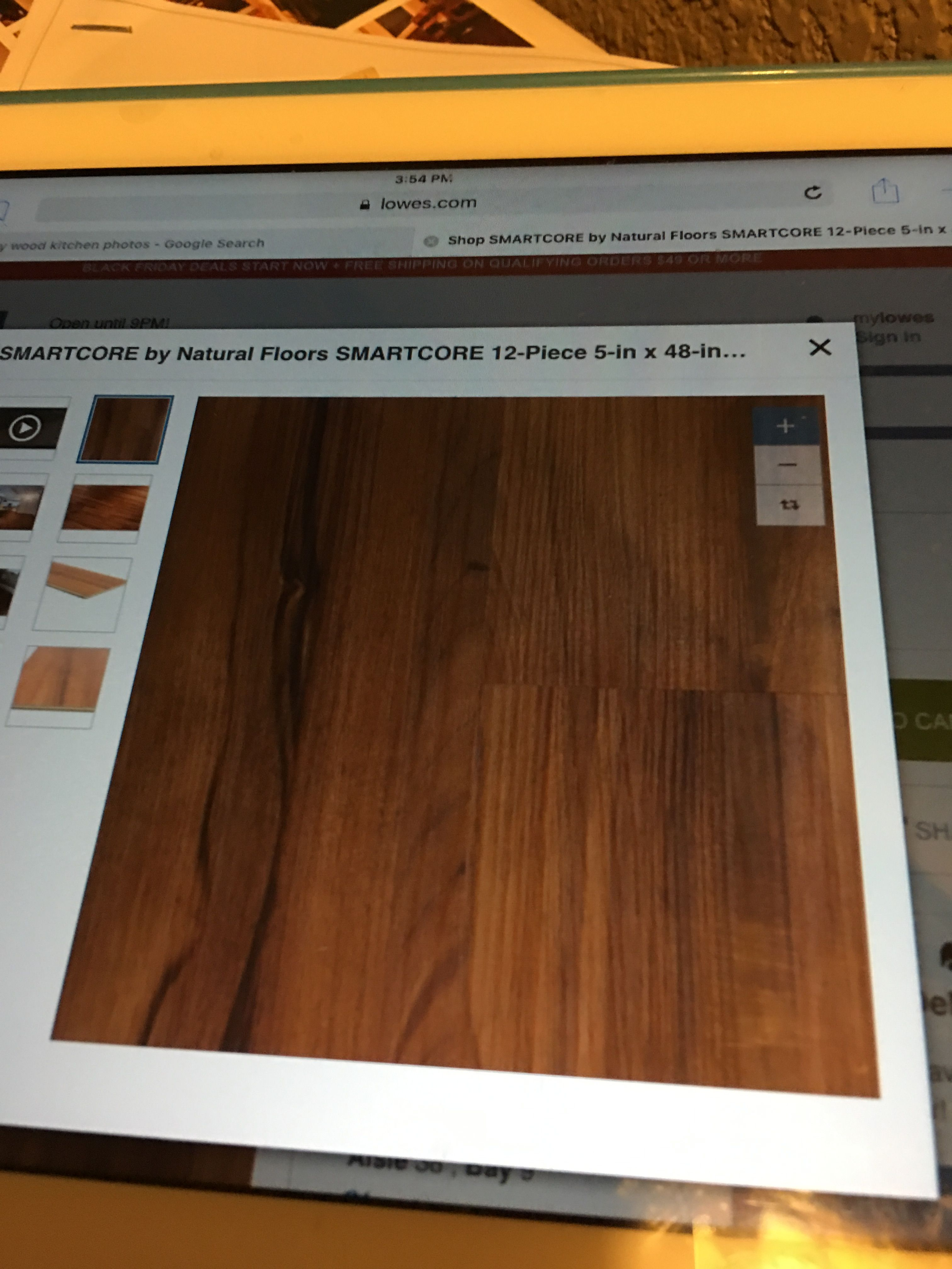 Smartcore Flooring used in my Kitchen chose this because