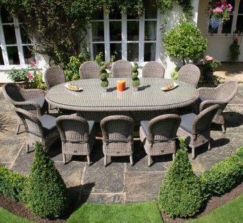 12 Seater Luxury Rattan Garden Furniture Set Ideal For Parties