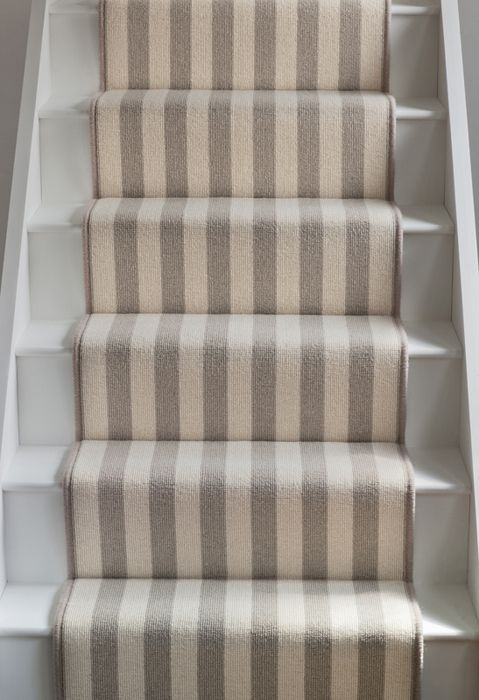Striped Stair Runner Stairs Stylish Staircases