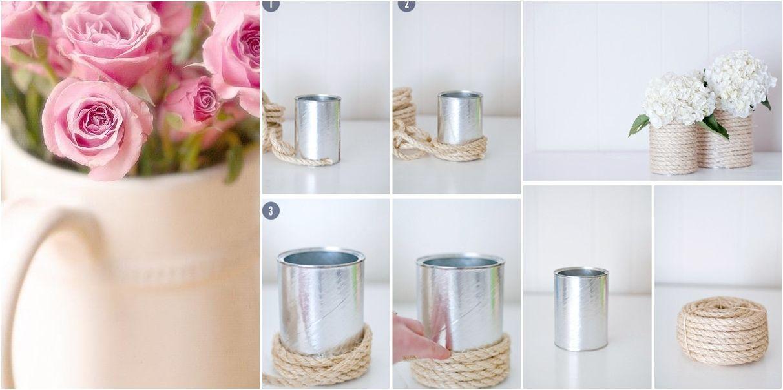 Diy para hacer jarrones r sticos cosas lindas para hacer pinterest jarrones jarrones - Jarrones rusticos ...