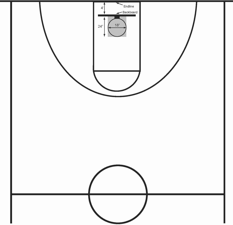 32++ Basketball half court clipart info