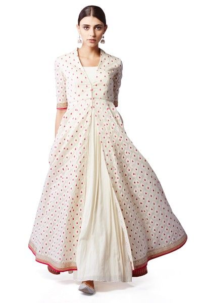 ANita dongre Jacquard Jacket & Cotton Gown   Women\'s ...