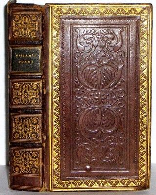 The Poems of Ossian by J.R. Dove -- tooled leather cover
