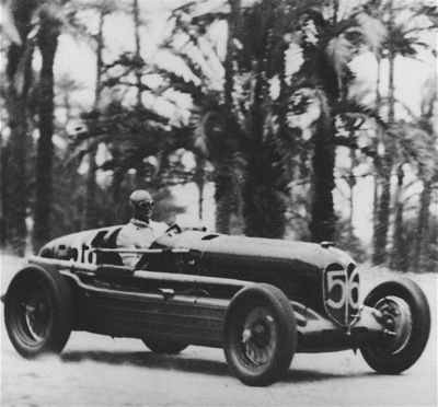 GP TRIPOLIS 1935 , Alfa Romeo Bimotore #56 of Louis Chiron