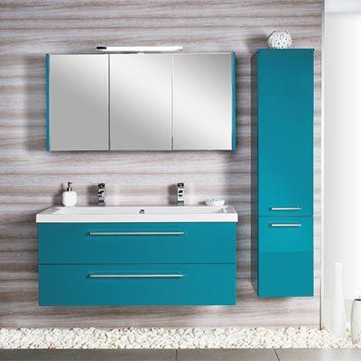 meubles salle de bains turquoise cedam