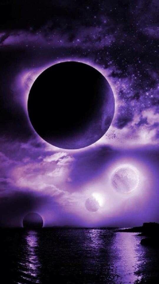 Purple Galaxy Galaxy Wallpaper Purple Aesthetic Beautiful Moon
