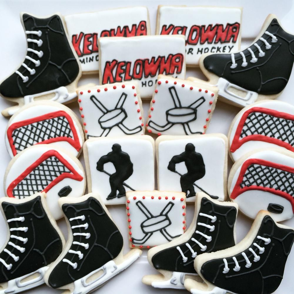 Hockey Cookies Hockey Birthday Cake Hockey Cupcakes Hockey Birthday