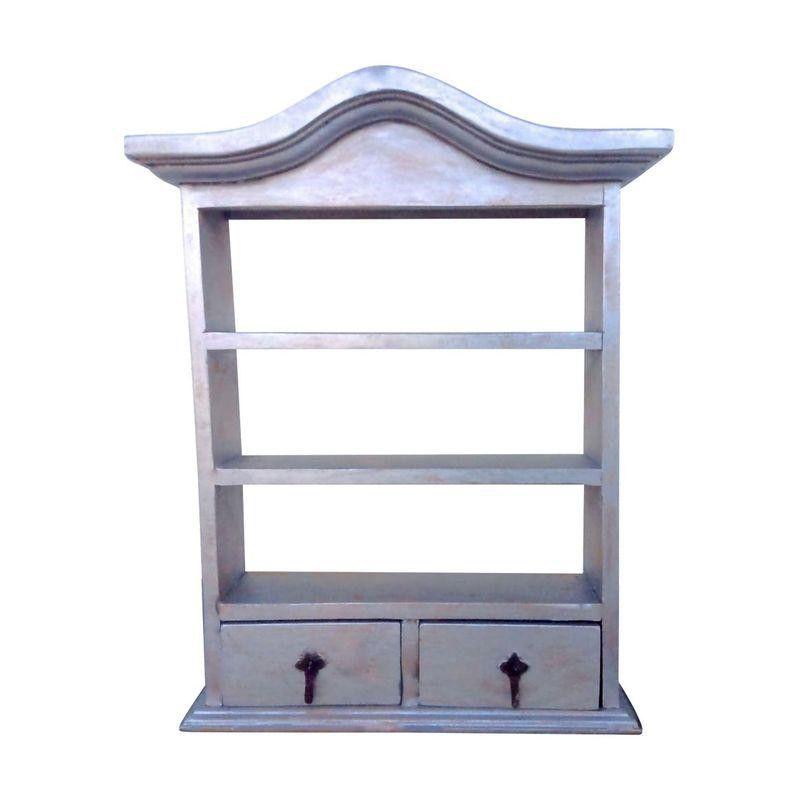 Rustic Silver Wash Curio Cabinet - $199 Est. Retail - $165 on Chairish.com