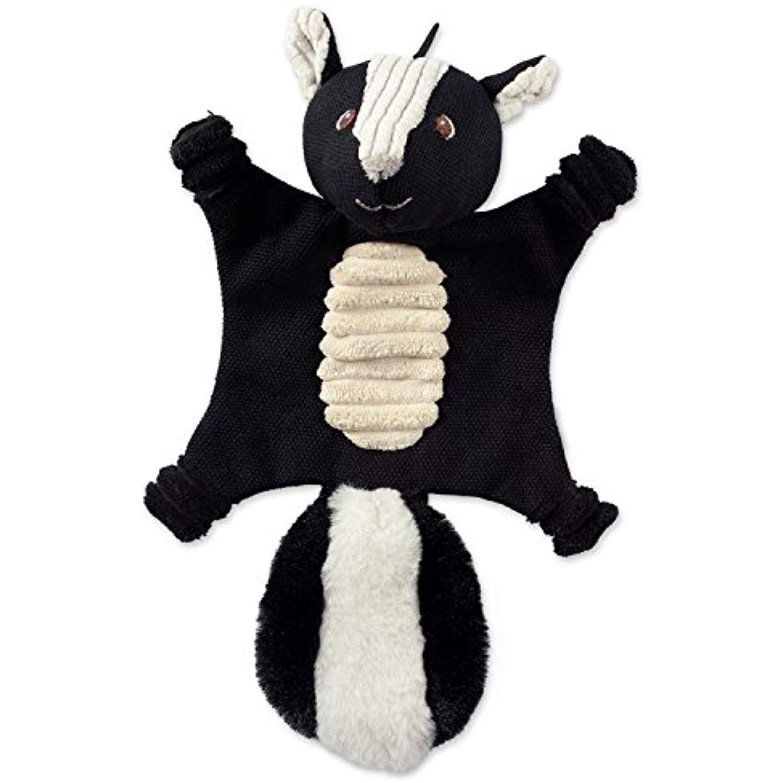 Bone Dry Dii Flat Body Squeaking Pet Toy 1 Piece Sasha Skunk