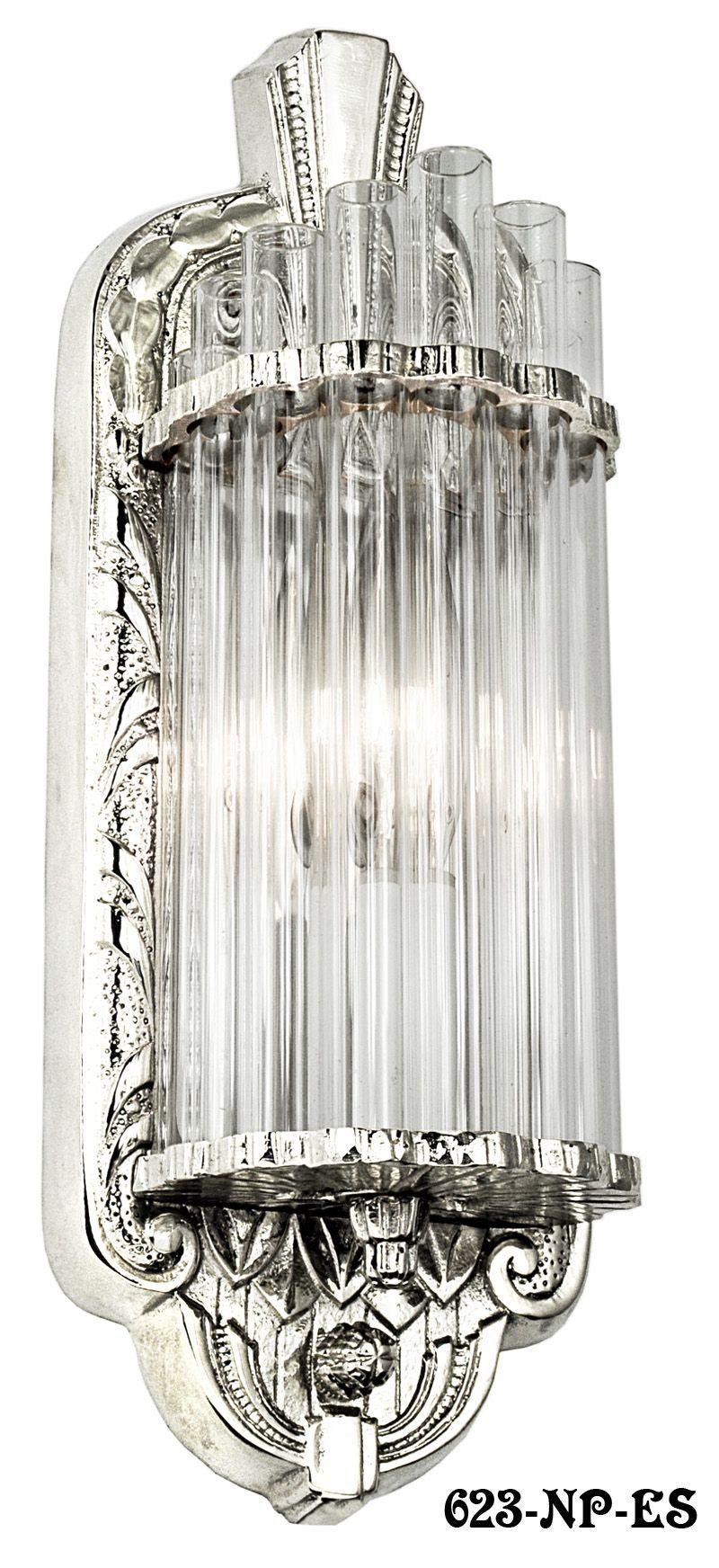 Vintage Art Deco Slip Shade Wall Sconces Free Shipping To Usa Etsy Vintage Art Deco Vintage Art Sconces