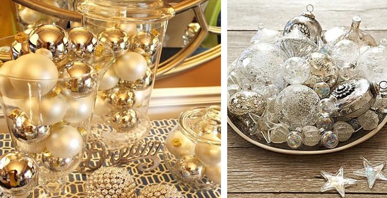 Bolas douradas pratas decora o hollydays branca reveillon - Bolas transparentes para decorar ...
