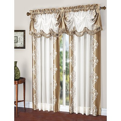 Astoria Grand Weise Embroidered Damask Rod Pocket Curtains Drapes