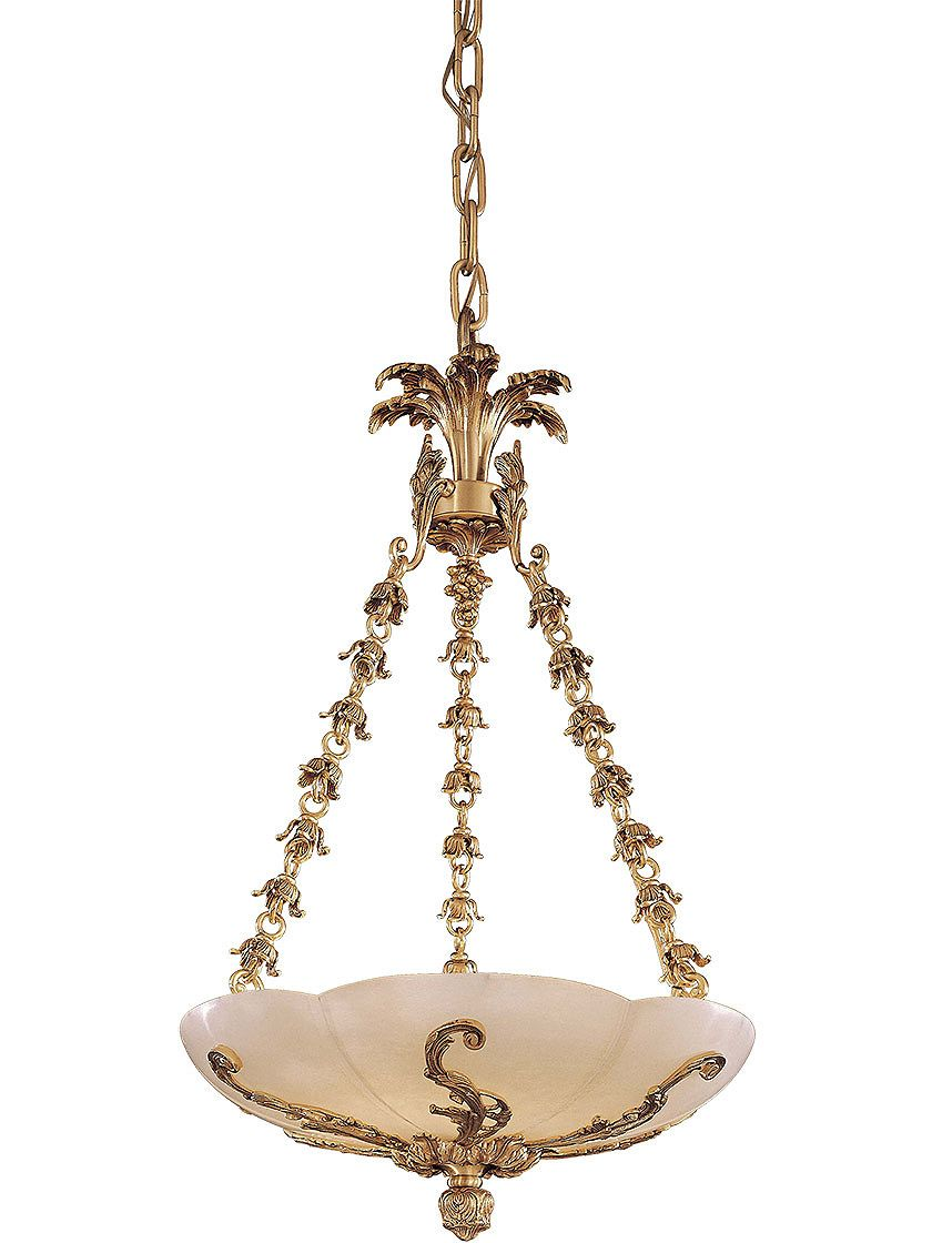 Antique reproduction lighting pink alabaster and brass bowl pink alabaster and brass bowl chandelier with french gold finish arubaitofo Gallery
