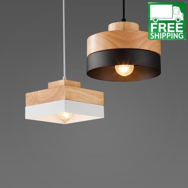 Wood And Metal Geometric Chandelier Light Contemporary Wood