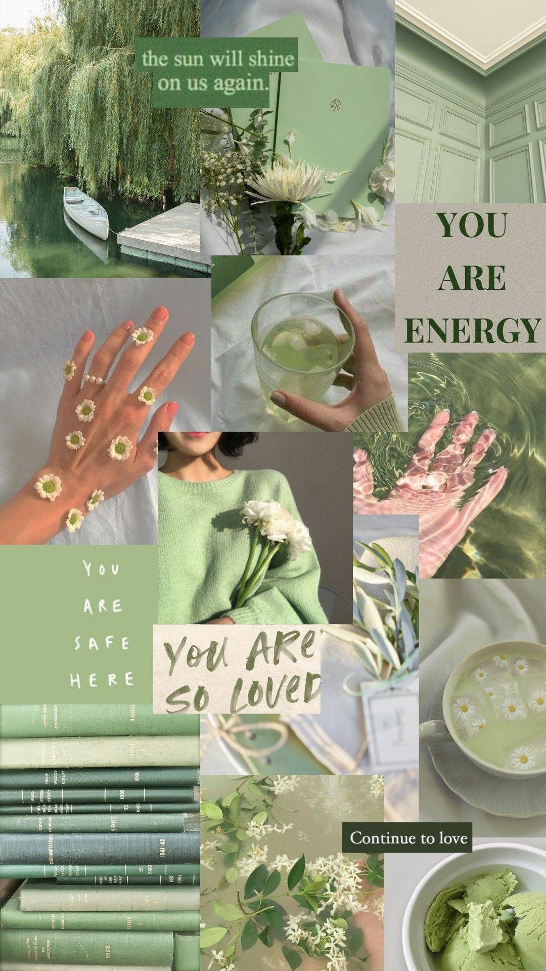 Aesthetic green wallpaper