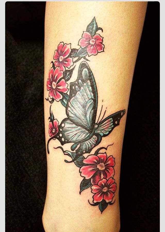 Butterfly For Parents Add A Flower For Each Child Tribal Butterfly Tattoo Butterfly Tattoo Designs Purple Tattoos