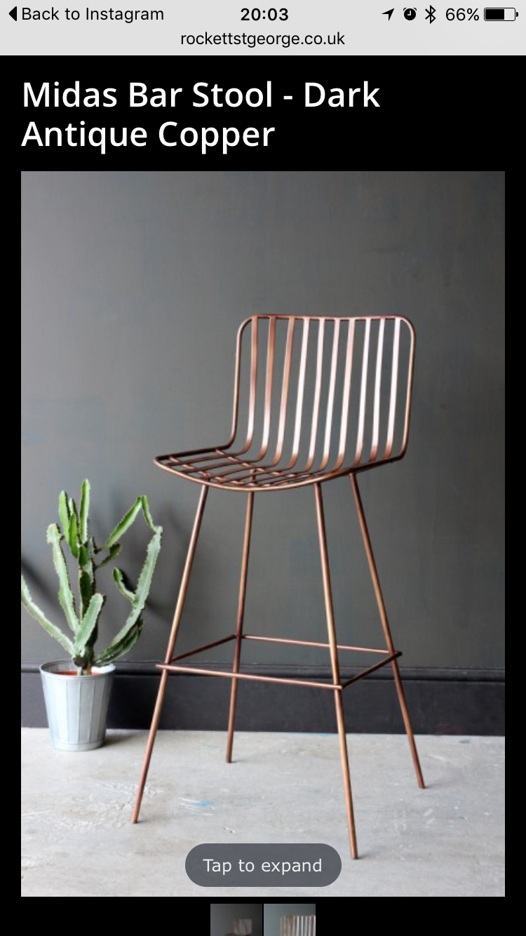 Grey And Copper Kitchen Stools