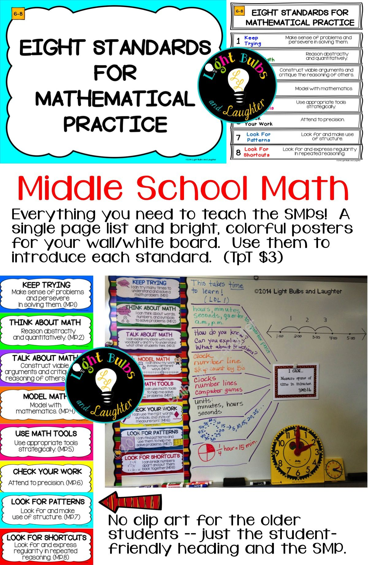 Eight Mathematical Practice Standards - Common Core - Grades 6-8 ...