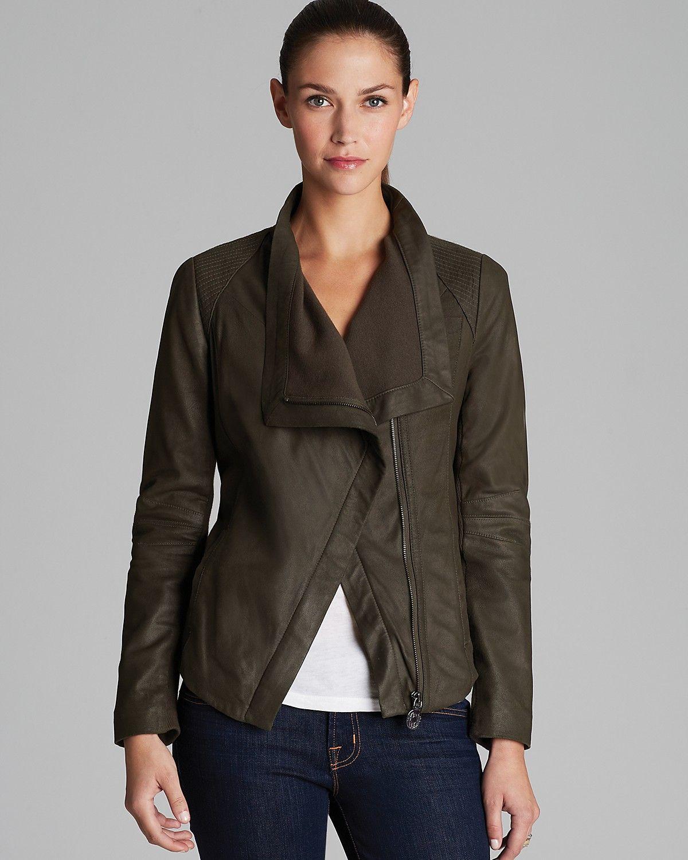 Elie Tahari Virginia Napoleon Drape Front Leather Jacket Women Coats Jackets Bloomingdale S Leather Jacket Leather Jackets Women Real Leather Jacket [ 1500 x 1200 Pixel ]