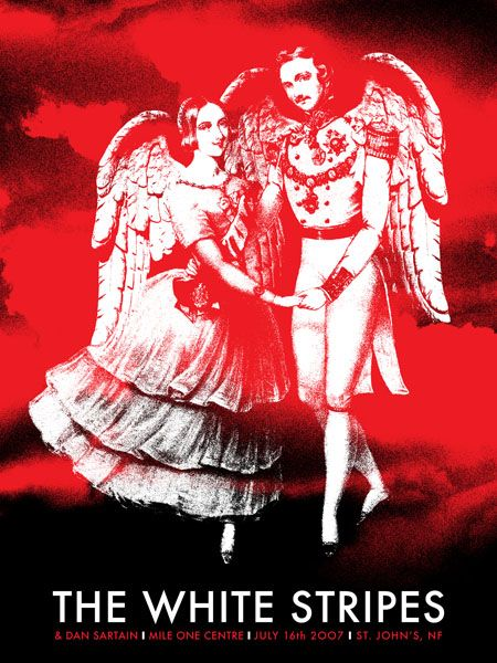 GigPosters.com - White Stripes, The - Dan Sartain