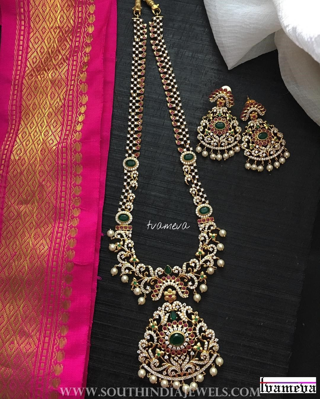 Gold plated stone haram from tvameva my big fat indian wedding