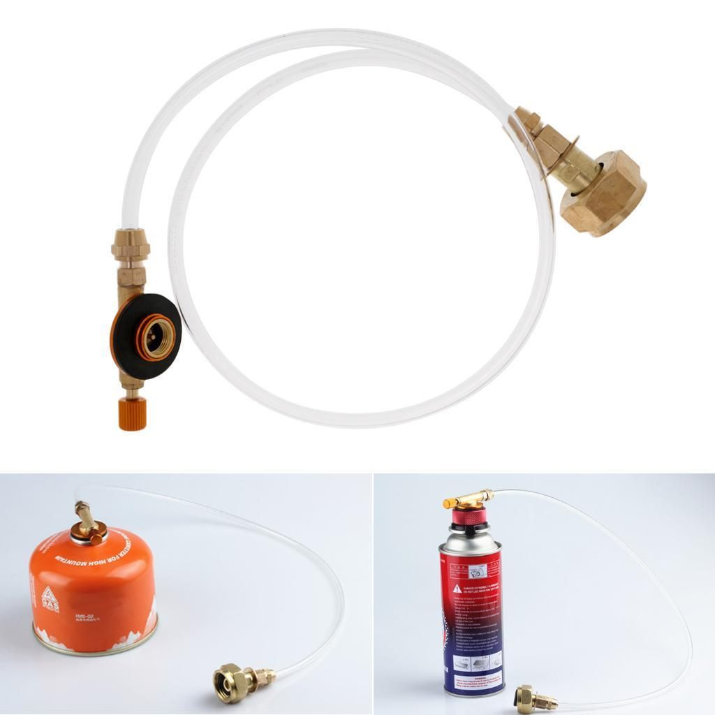 LAOTIE Outdoor Camping Cooking Stove Gas Refill Adapter Flat Cylinder Tank Conve