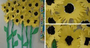 10 flowers from construction paper #constructionpaperfl - Paper Flower Backdrop Wedding #easypaperflowers