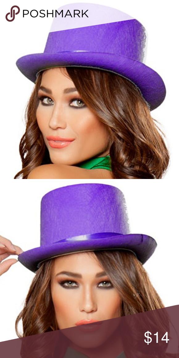 Purple Velvet Top Hat Velvet Tops Purple Velvet Top Hat