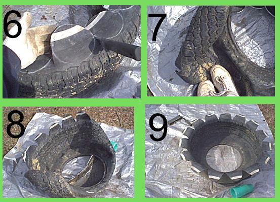 Fioriere con pneumatici fai da te balconcini pinterest for Laghetti per tartarughe usati